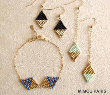 Atelier Bijoux tissés en perles MIYUKI de mimou paris