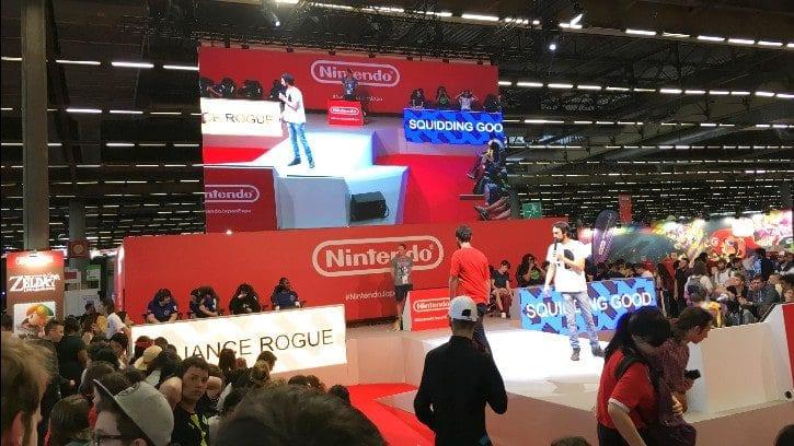 La scène du stand Nintendo