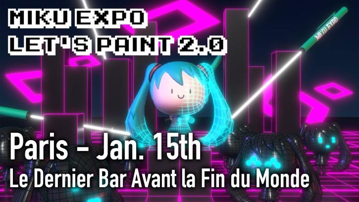 MIKU EXPO LET'S PAINT 2.0 in Paris