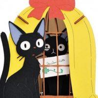 Création de carte de papier Jiji et la poupée chat