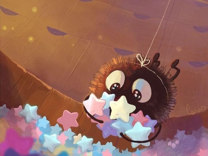 Atelier créatif Ghibli : création d'un pompom Noiraude